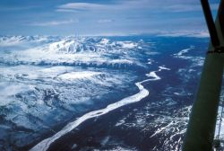 Upper Susitna River - Aerial View Photo