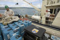 Loading the MV Tiglax in Homer, Alaska Photo