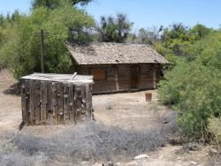 Historic Blacksmith Shop and Railroad Tie House at Corn Creek Springs Photo