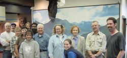 Jimmy Carter at Kodiak Refuge Visitors Center Photo