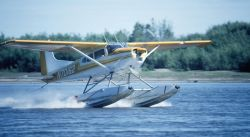 Float Plane Making a Landing Photo