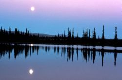 Selawik Moonscape Over Water Photo