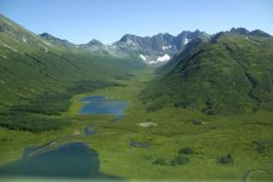 Mountain Valley and Lakes Photo
