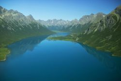 Lake in Glacial Valley Photo