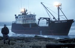 Arctic Dawn, grounded on St Paul Island March 1996 Photo