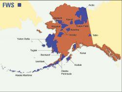 FWS Refuge Map of Alaska Photo