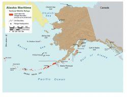 Alaska Maritime National Wildlife Refuge map Photo