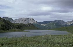 Portage Lake in Junjik River Valley Photo