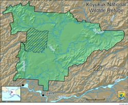 Boundary Map of the Koyukuk National Wildlife Refuge Photo