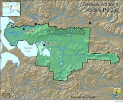 Boundary Map of Selawik National Wildlife Refuge Photo