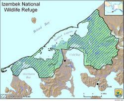 Boundary Map of the Izembek National Wildlife Refuge Photo