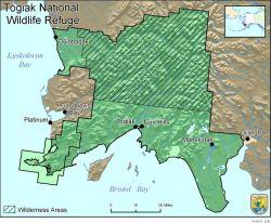 Boundary Map of the Togiak National Wildlife Refuge Photo