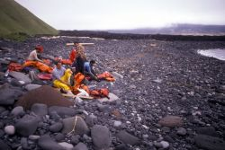 Amutak Island, 1990,Removing Gear After a Beach Landing Photo