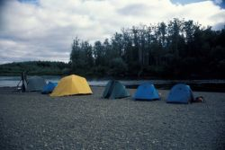 Tent Camp on Gravel Pad Photo