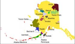 Alaska National Wildlife Refuges Map Photo