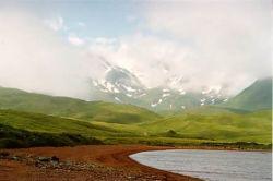 Adak Island and Mt. Moffett from Lake Andrew Photo