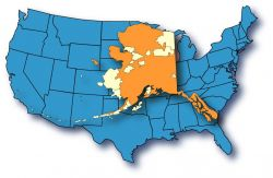 Alaska Map Overlays A Continental U.S. Map Photo
