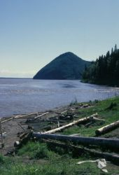 Yukon Riverbank at Kaltag Photo