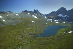 Mountain Valley and Lake Photo