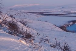 Noatak River Winter Scene Photo