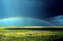 Rainbow Over Arctic Refuge Coastal Plain Photo