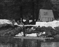 Construction of Katlian Bay Salmon Migrant Station Photo