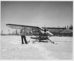 Agent Jim King and Small Plane N702 Photo