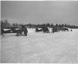 FWS Planes on Snowy Airfield - River? Photo