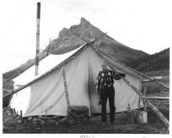 Junjik Valley Man and Wall Tent Photo