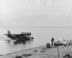 Clarence Rhode Beaching Plane Photo