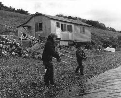 Boys Fishing at Sid Olmid Cabin, Moser Bay Photo