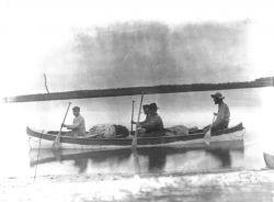USGS party and Boy in Kayak, Bethel, 1898 Photo