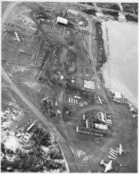 Early Aerial View of Lake Hood, Anchorage Photo