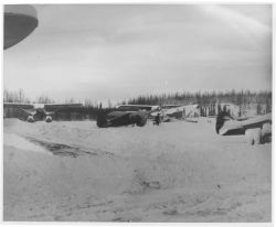 Hangar Facilities at Anchorage in Winter Photo