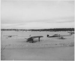 Hangar Facilities at Anchorage in Winter Photo