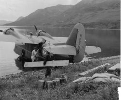 U.S. FWS Supply Airplane at Karluk Lake, Kodiak Photo