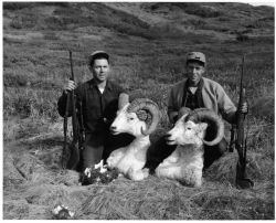 Hunters with Dall Ram Heads Photo