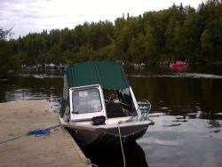 Fishing Alaska Rivers By Boat Photo