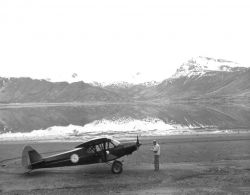 Vernon Berns and Airplane at Littlejohn Lagoon Photo
