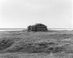 Cabin on Tundra Photo
