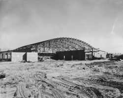 Construction of Hangar at Lake Hood Photo