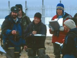 Biologists and Students Training for Annual Steller's Eider Breeding Pair Survey Photo