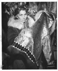 Emma Willoya with Sealskin Coat Photo