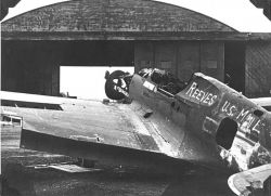 Reeves U.S. Mail Plane at Airport Hangar Photo