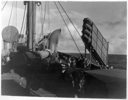 Balsa Raft on Cargo Ship During WW II Photo