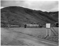 Colonel Yamasaki Sign and Military Buildings on Attu Photo