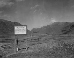 Jim Fish Valley Sign on Attu Island Photo