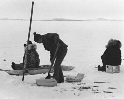 Ice Fishing in Kotzebue Sound Photo