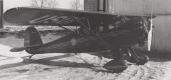 First FWS Aircraft Assigned in Alaska 1940 Monocoupe Photo