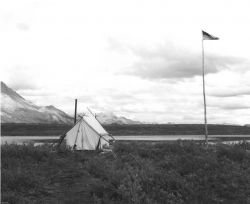 Camping on the Tundra Photo
